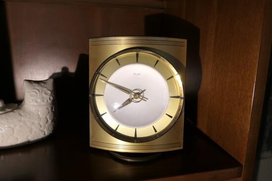 Vintage Bronze cased Mid Century Modern Clock