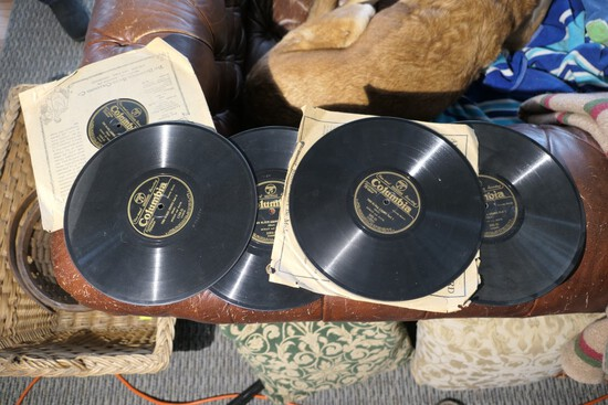Group Lot of 5 Antique Two Black Crows Records