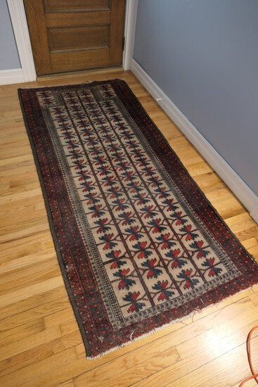 Old Hand Knotted Persian or Middle Eastern Rug