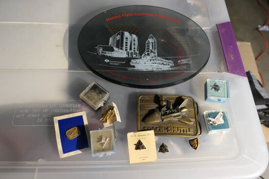 Group lot of vintage NASA Space Shuttle items