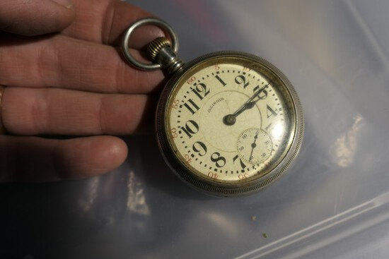 Illinois Grade 89 Pocket Watch w/Railroad engraving