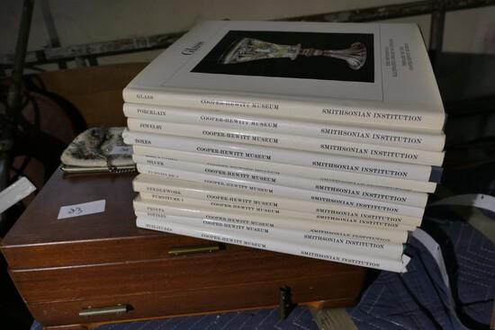 Set of Smithsonian books on decorative arts, antiques