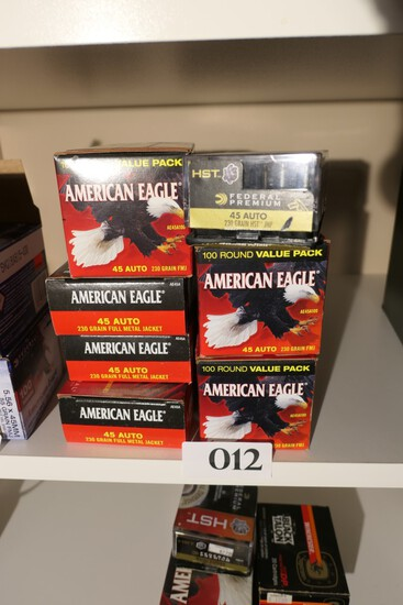 6 Boxes of American Eagle 45 Auto Ammo +