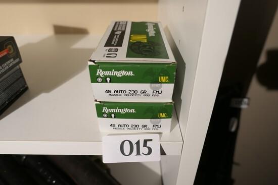 2 Boxes 45 Auto Remington UMC Ammo