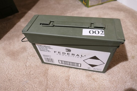 Metal Can 420 rnds Federal 5.56 x 45 mm ammo AR-15