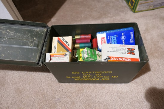 Ammo can w/assorted boxes of ammunition