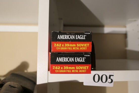 2 Boxes 7.62 x 39mm Ammo 20 rnds each