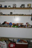 Shelves and items below shelves pictured