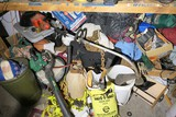 Cleanout lot under workbench