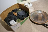 Military, Survival, Misc. Items in Box plus hat