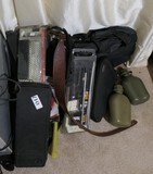 Group lot of firearm related items, etc