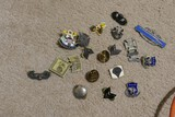 Group lot of military insignia, pins