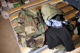 Large Group Lot of Assorted Clothing Including Military, hats