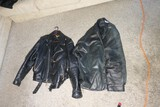 Pair of Vintage Leather Motorcycle Jackets