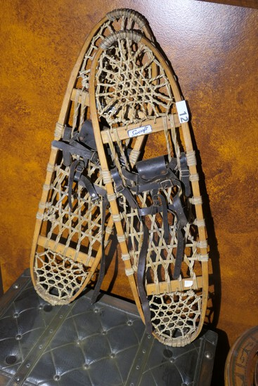 Pair of Vintage Snow Shoes by Snocraft