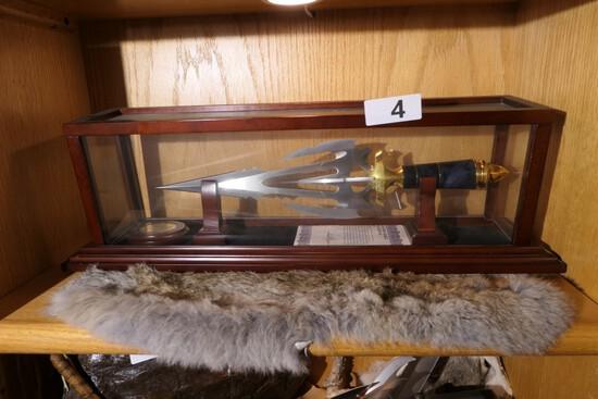 Vintage Gil Hibben Knife on Stand in case