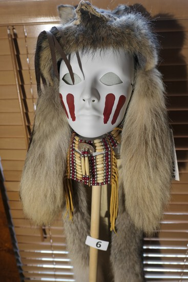 Native American Headdress by Laguna native Lillia Romero