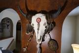 Large Buffalo Skull w/ Native garnishes