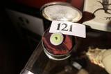 Antique glass eye in velvet lined box