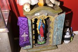 Antique Alter with Skeleton Angel in Center
