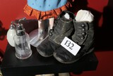 Perfume Sprayer, antique baby boots
