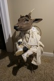 Unusual Antique Doll with Deer Head