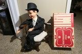Vintage Ventriloquist Doll in Box PLUS Chair