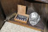 Shelf lot of macabre items, medical