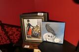 2 Macabre Art Pieces including original of bird