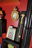 2 Framed religious art pieces PLUS bone style wand.