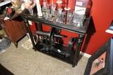 Vintage black wooden display table