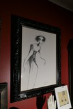 Large sized original drawing of creepy character