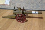 Antique Big Bang Cannon in Old Paint