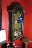 Nice Antique Reliquary cabinet w/Chicken Wire