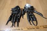 Pair of Metal Freddy Krueger Type Fighting Blade Gloves Claws