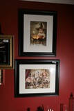 Two signed and numbered bizarre art prints