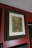Signed and numbered Macabre Lithograph in frame