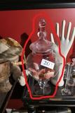 Apothecary medical jar with lid, false teeth