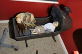 Antique Baby Bassinet w/Crow on Top