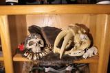 Shelf lot - tooth necklace, faux bone skulls