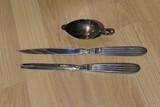 Medical Items Lot - c. 1900 Surgical Knives, Medicine dispenser