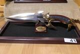 Vintage Gil Hibben Knife on Stand