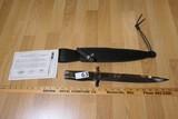 Large Gil Hibben Expendables Toothpick knife + sheath