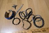 Group lot of assorted Native, Tribal Bracelets etc