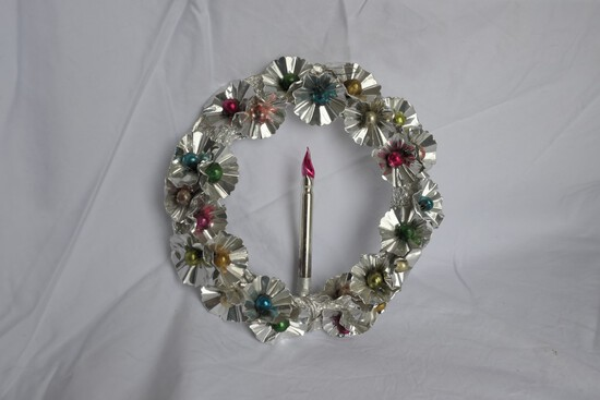 Vintage Mercury Glass Christmas Hanging Wreath