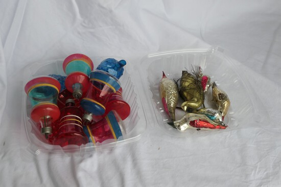 Group lot of better Antique Christmas Ornaments
