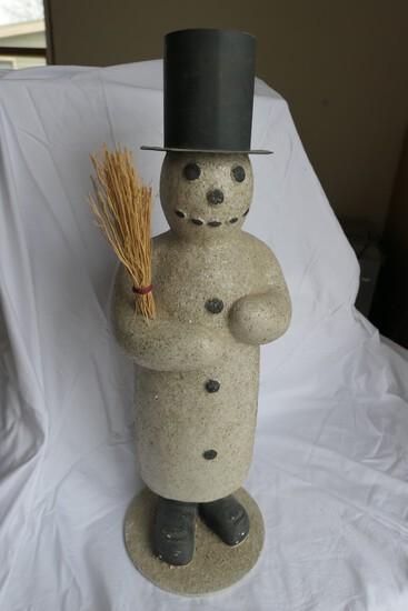 Papier Mache Snowman Candy Container