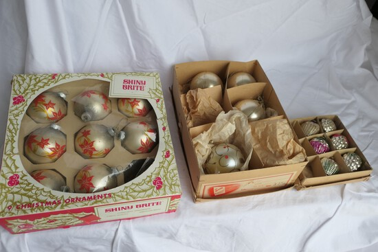 3 Partial Boxes of Antique Christmas Ornaments