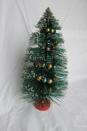 Vintage Decorated Bottle Brush Tree