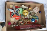 Box lot Assorted Christmas Ornaments etc.
